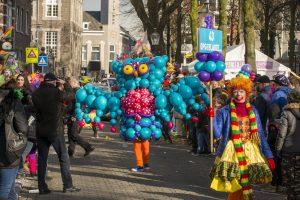 Winnend kostuum carnavalsoptocht