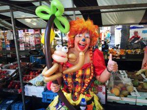 Ballonnclown Tallie weekmarkt Roermond